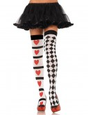 Harlequin and Heart Thigh Highs, halloween costume (Harlequin and Heart Thigh Highs)