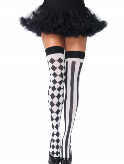Harlequin Thigh High Stockings, halloween costume (Harlequin Thigh High Stockings)