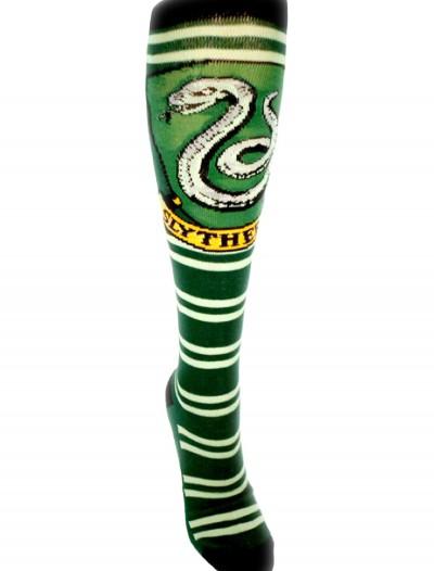 Harry Potter Slytherin Knee High Socks, halloween costume (Harry Potter Slytherin Knee High Socks)