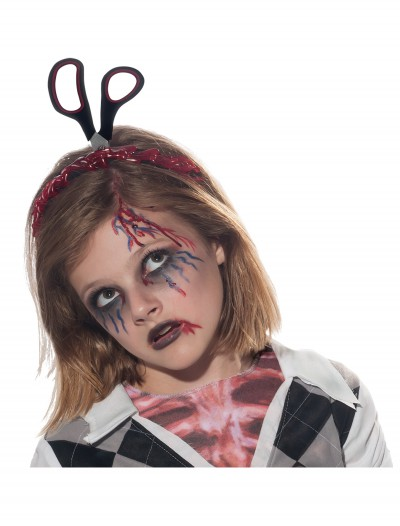 Headband w/ Scissors and Blood, halloween costume (Headband w/ Scissors and Blood)