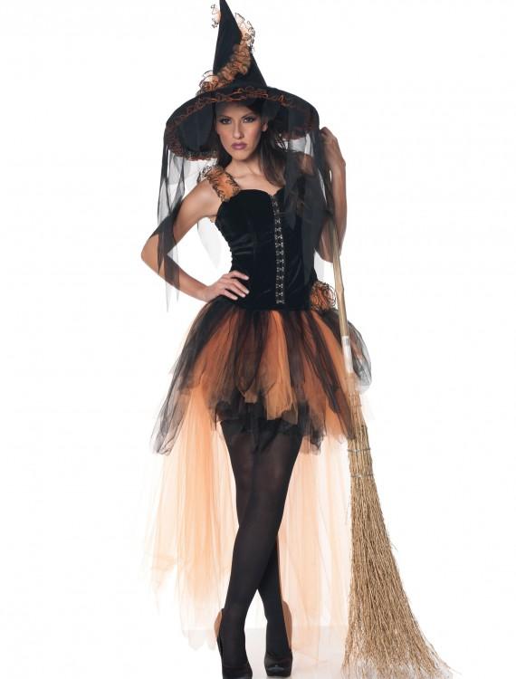 Hallow's Eve Women's Orange & Black Witch Costume, halloween costume (Hallow's Eve Women's Orange & Black Witch Costume)