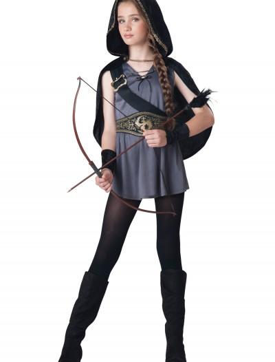Girls Hooded Huntress Costume, halloween costume (Girls Hooded Huntress Costume)
