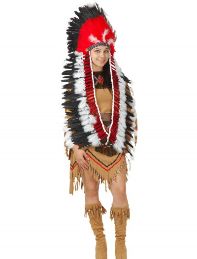 Indian Headdress with Trailer, halloween costume (Indian Headdress with Trailer)