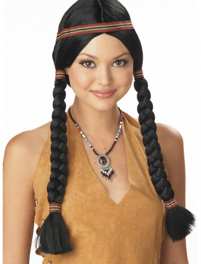 Indian Maiden Wig, halloween costume (Indian Maiden Wig)