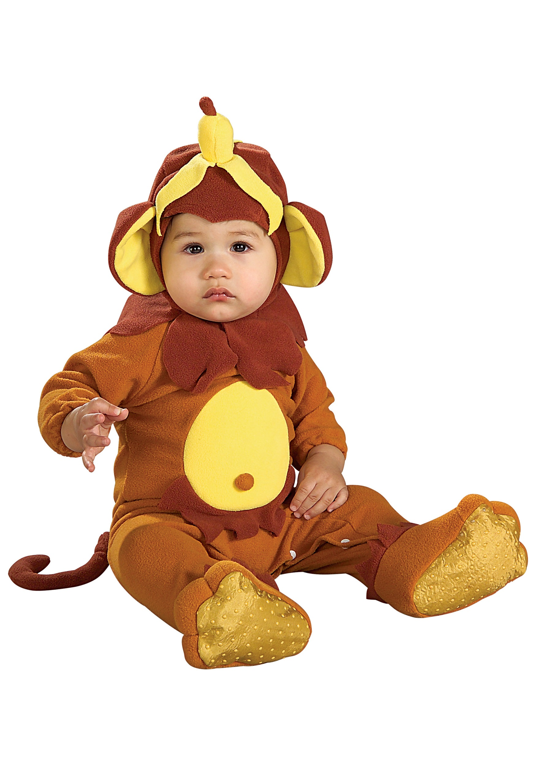 infant banana peel monkey costume
