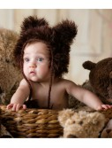 Infant Brown Bear Hat, halloween costume (Infant Brown Bear Hat)