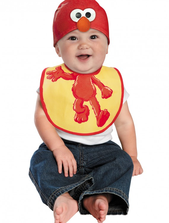 Infant Elmo Hat and Bib Set, halloween costume (Infant Elmo Hat and Bib Set)