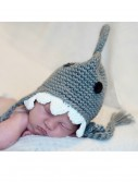 Infant Gray Shark Hat w/ Teeth, halloween costume (Infant Gray Shark Hat w/ Teeth)