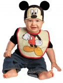 Infant Mickey Mouse Hat and Bib Set, halloween costume (Infant Mickey Mouse Hat and Bib Set)