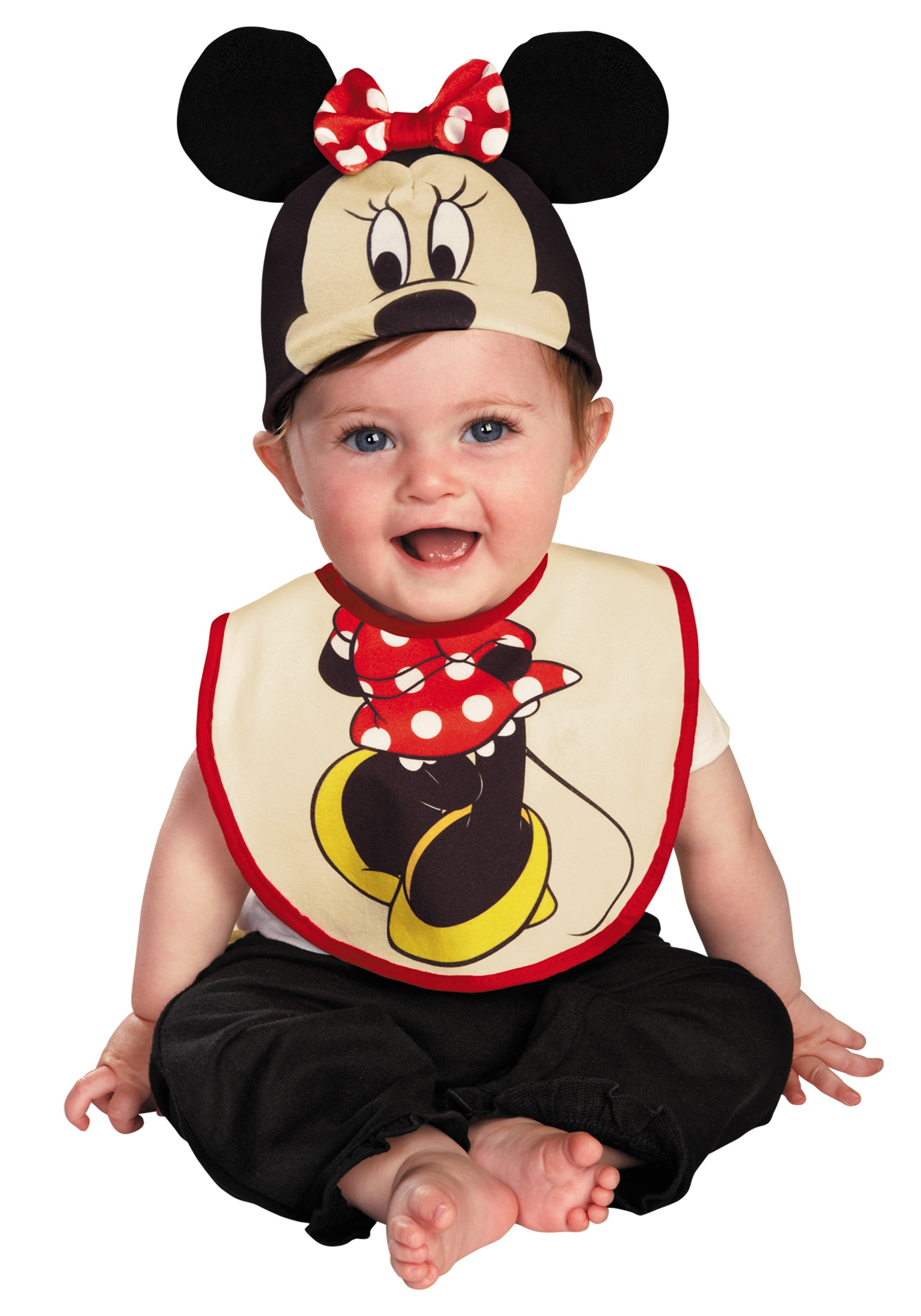 infant minnie mouse hat and bib set - halloween costumes