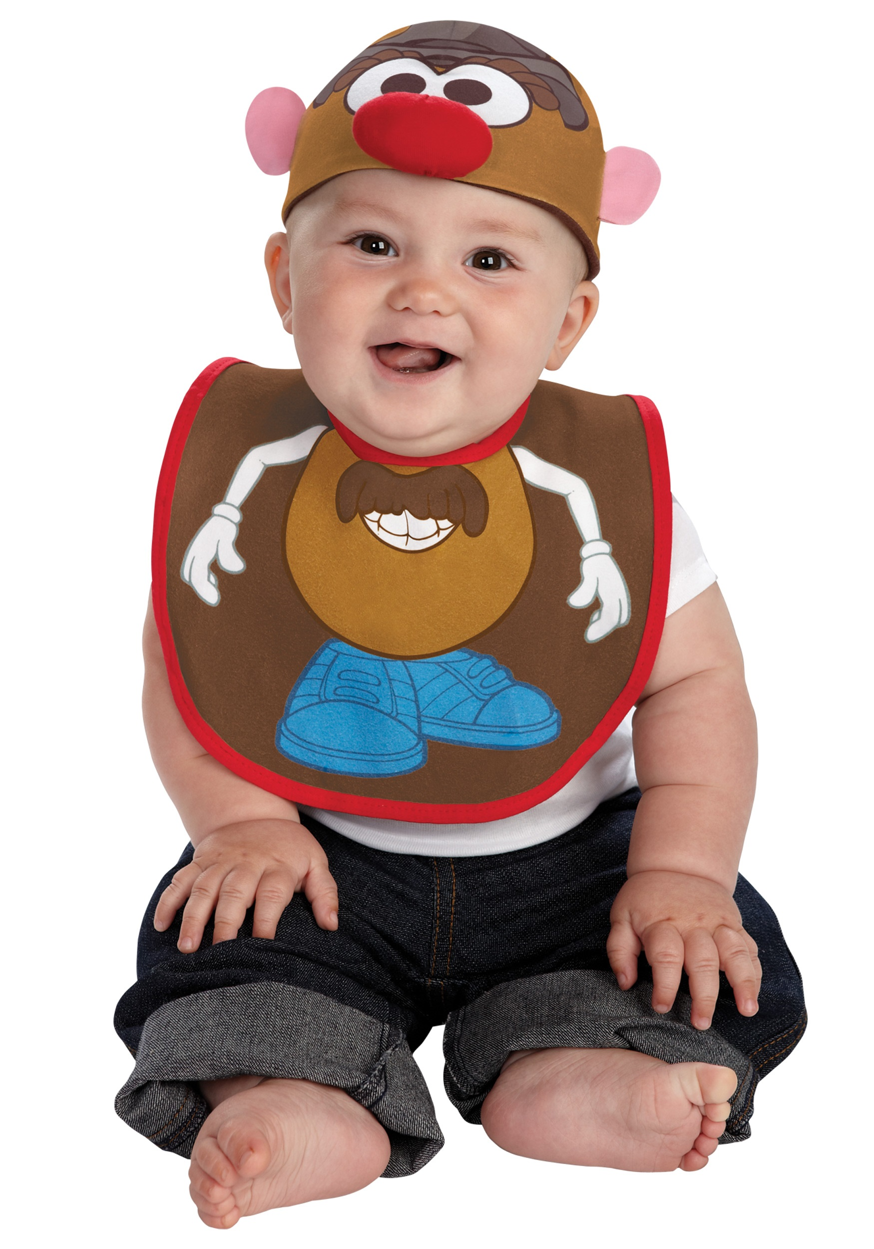 infant mr. potato hat and bib set - halloween costumes