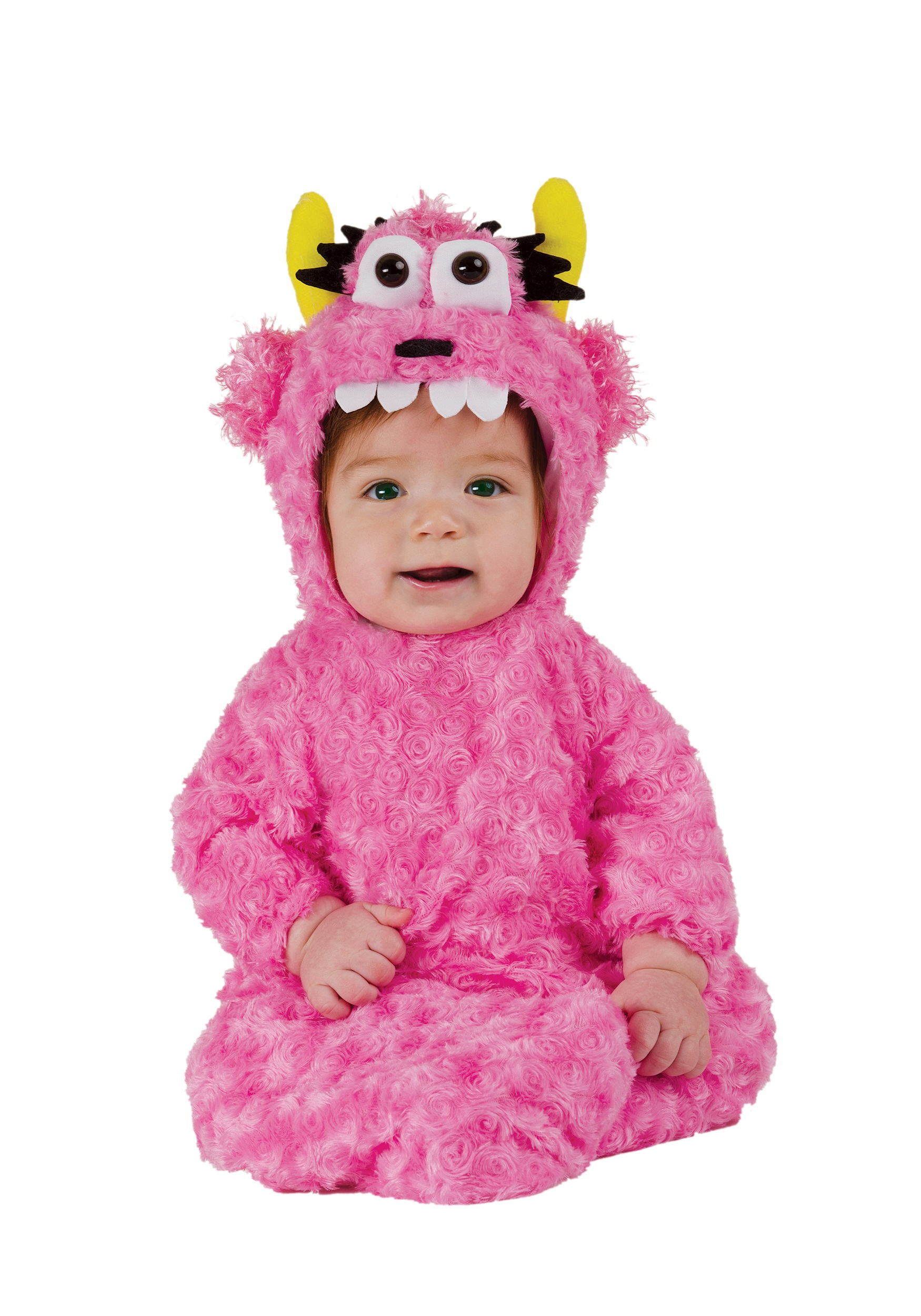 infant pink monster bunting - halloween costumes