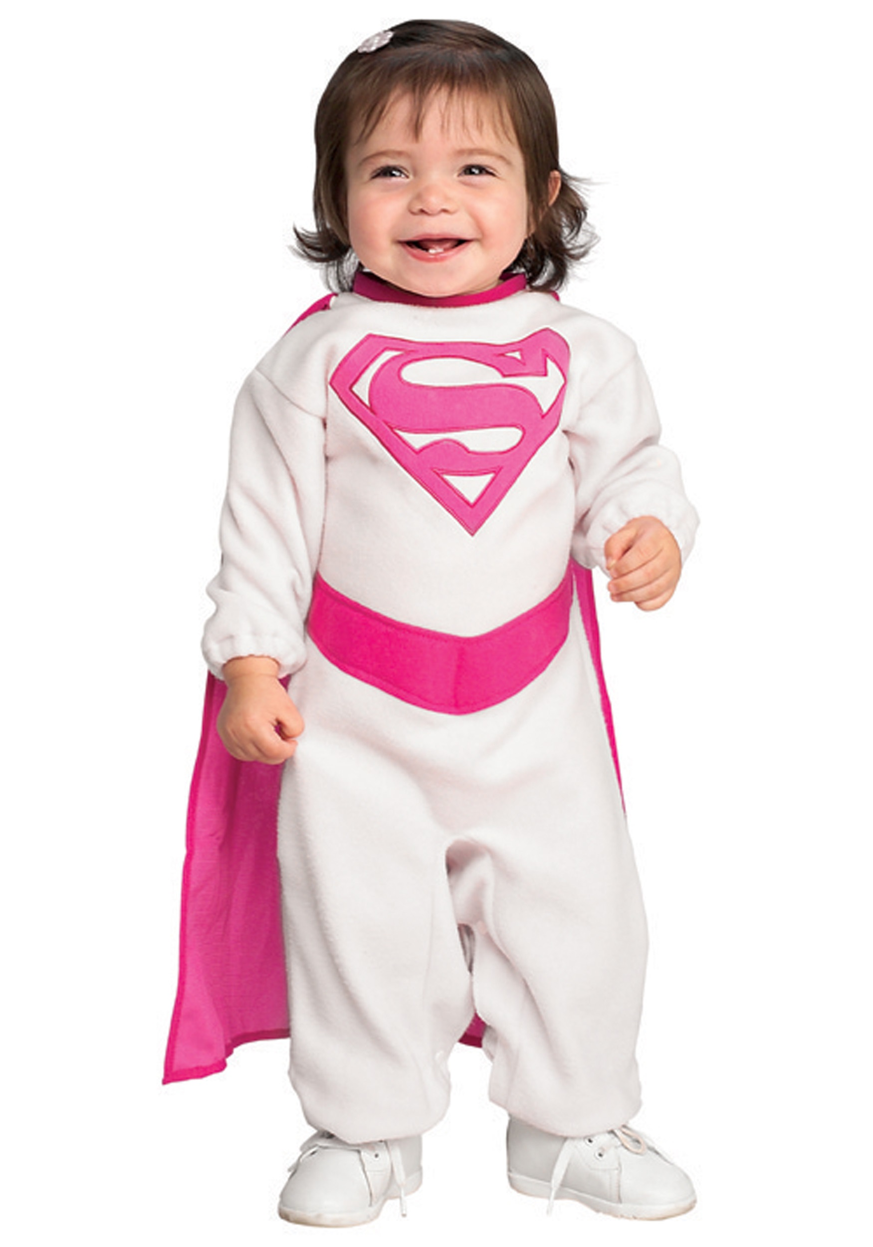 infant pink supergirl costume - halloween costumes