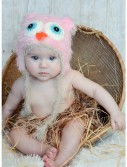 Infant Pink Yarn Owl Hat, halloween costume (Infant Pink Yarn Owl Hat)