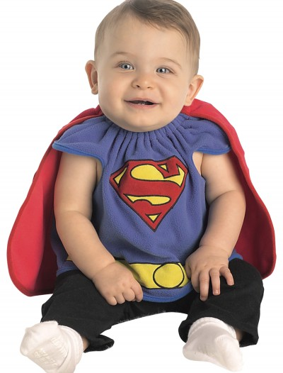 Infant Superman Deluxe Bib, halloween costume (Infant Superman Deluxe Bib)