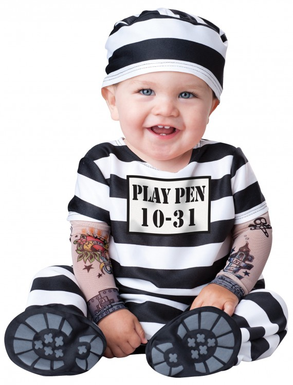 Infant Time Out Prisoner Costume, halloween costume (Infant Time Out Prisoner Costume)