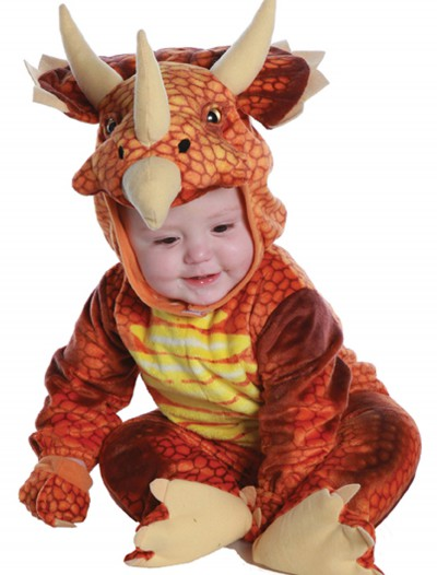 Infant/Toddler Rust Triceratops Costume, halloween costume (Infant/Toddler Rust Triceratops Costume)