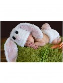 Infant White Bunny Hat and Diaper Cover, halloween costume (Infant White Bunny Hat and Diaper Cover)
