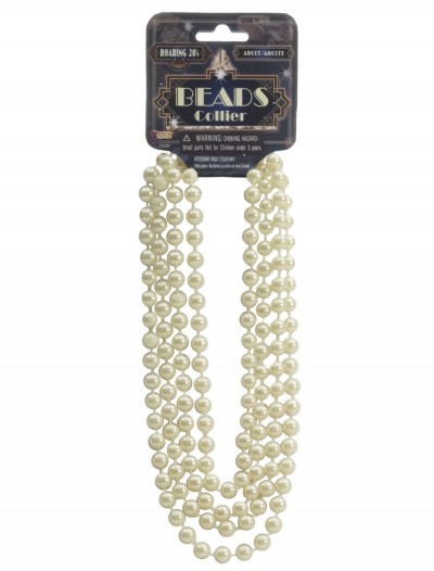 Ivory Flapper Beads, halloween costume (Ivory Flapper Beads)