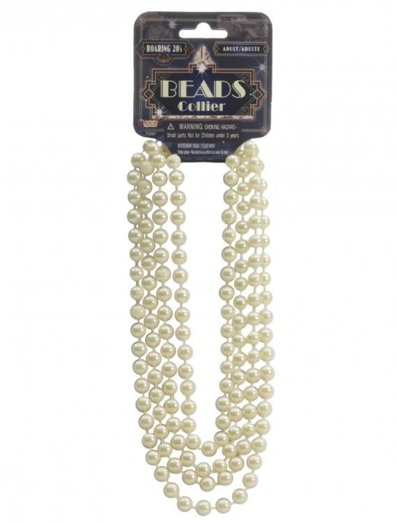 Ivory Flapper Beads, halloween costume (Ivory Flapper Beads)