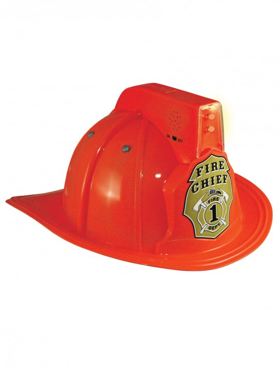 Jr. Fire Chief Light Up Helmet, halloween costume (Jr. Fire Chief Light Up Helmet)