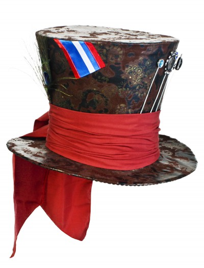 Jumbo Brown Mad Hatter Hat, halloween costume (Jumbo Brown Mad Hatter Hat)