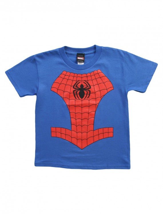 Juvy Classic Spider-Man Costume TShirt, halloween costume (Juvy Classic Spider-Man Costume TShirt)