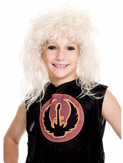 Kids' 80s Rockstar Wig, halloween costume (Kids' 80s Rockstar Wig)