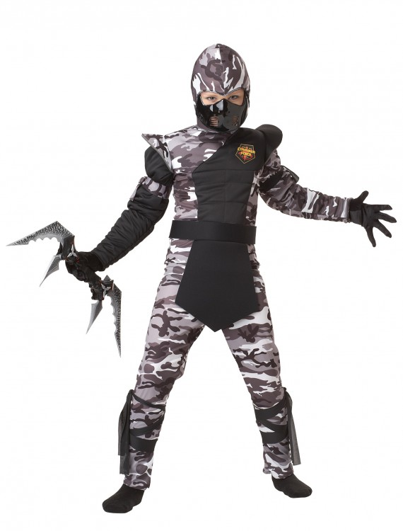 Kids Arctic Force Ninja Costume, halloween costume (Kids Arctic Force Ninja Costume)