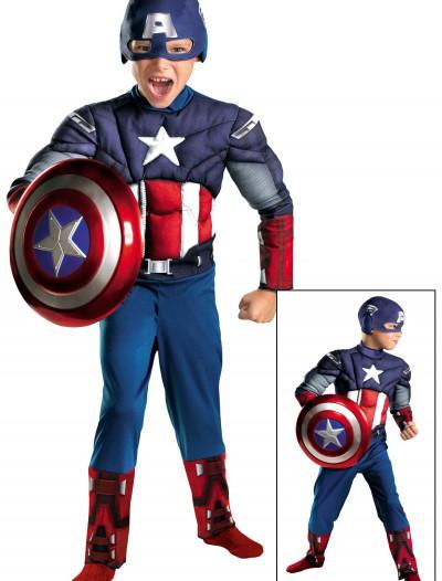 Kids Avengers Captain America Muscle Costume, halloween costume (Kids Avengers Captain America Muscle Costume)