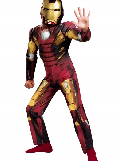 Kids Avengers Iron Man Muscle Costume, halloween costume (Kids Avengers Iron Man Muscle Costume)
