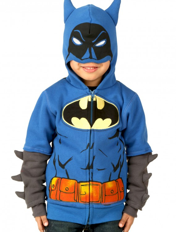 Kids Batman Two Costume Hoodie, halloween costume (Kids Batman Two Costume Hoodie)