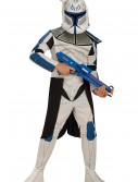 Kids Blue Clone Trooper Leader Rex Costume, halloween costume (Kids Blue Clone Trooper Leader Rex Costume)
