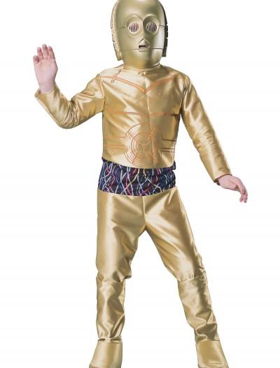 Kids C3PO Costume, halloween costume (Kids C3PO Costume)