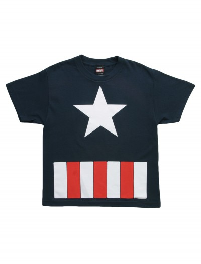 Kids Captain America Star TShirt, halloween costume (Kids Captain America Star TShirt)