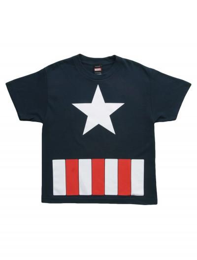 Kids Captain America Star TShirt, halloween costume (Kids Captain America Star TShirt)