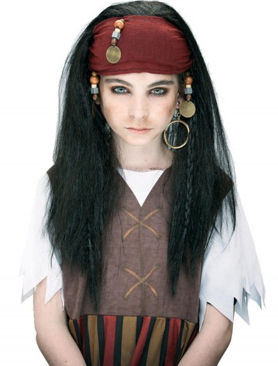 Kids Caribbean Pirate Wig, halloween costume (Kids Caribbean Pirate Wig)