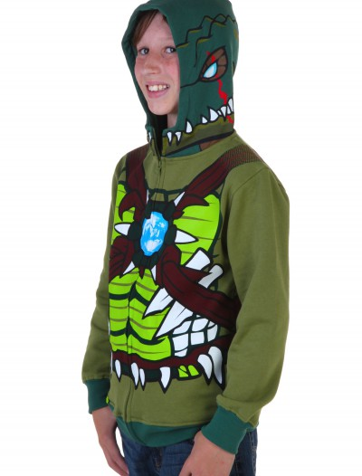 Kids Chima Cragger Croc Costume Hooded Sweatshirt, halloween costume (Kids Chima Cragger Croc Costume Hooded Sweatshirt)
