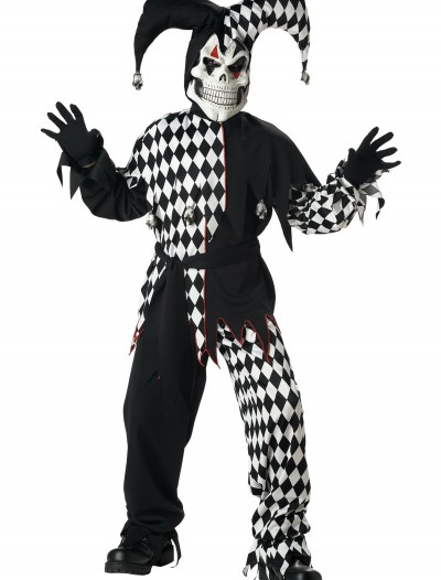 Kids Dark Jester Costume, halloween costume (Kids Dark Jester Costume)