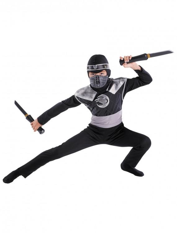 Kids Dark Raven Ninja Costume, halloween costume (Kids Dark Raven Ninja Costume)