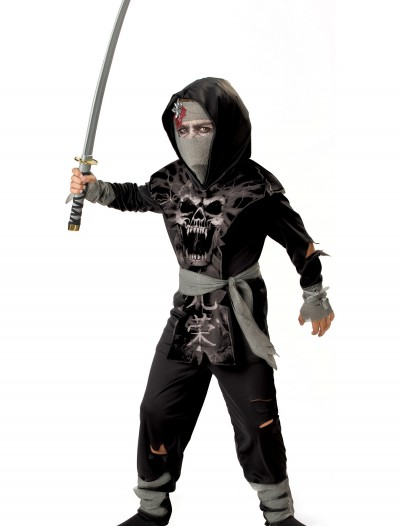 Kids Dark Zombie Ninja Costume, halloween costume (Kids Dark Zombie Ninja Costume)