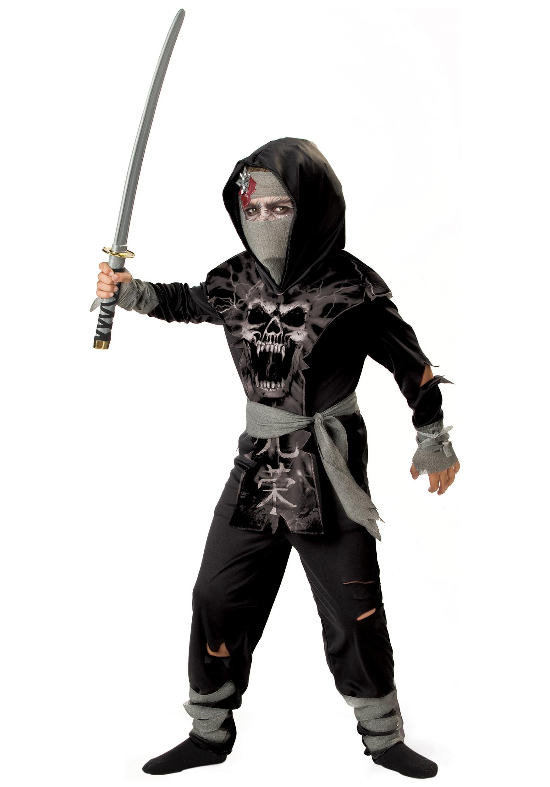 Kids Dark Zombie Ninja Costume  sc 1 st  Halloween Costumes & Kids Dark Zombie Ninja Costume - Halloween Costumes