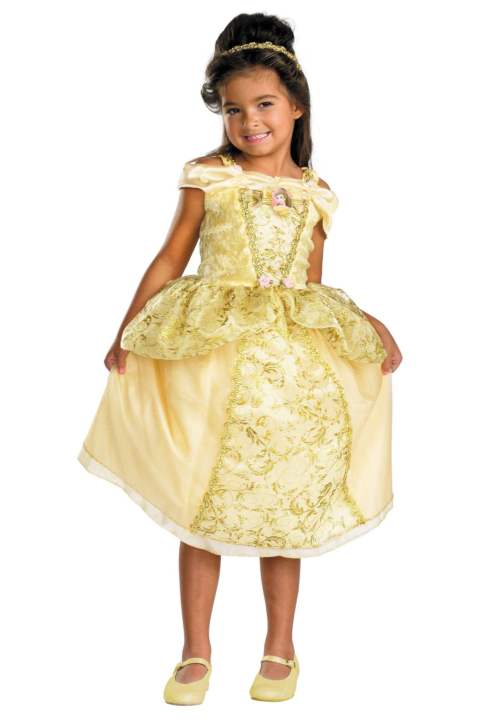 Kids Deluxe Belle Costume Halloween Costumes