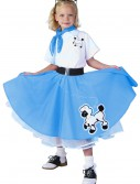 Kids Deluxe Blue Poodle Skirt Costume, halloween costume (Kids Deluxe Blue Poodle Skirt Costume)