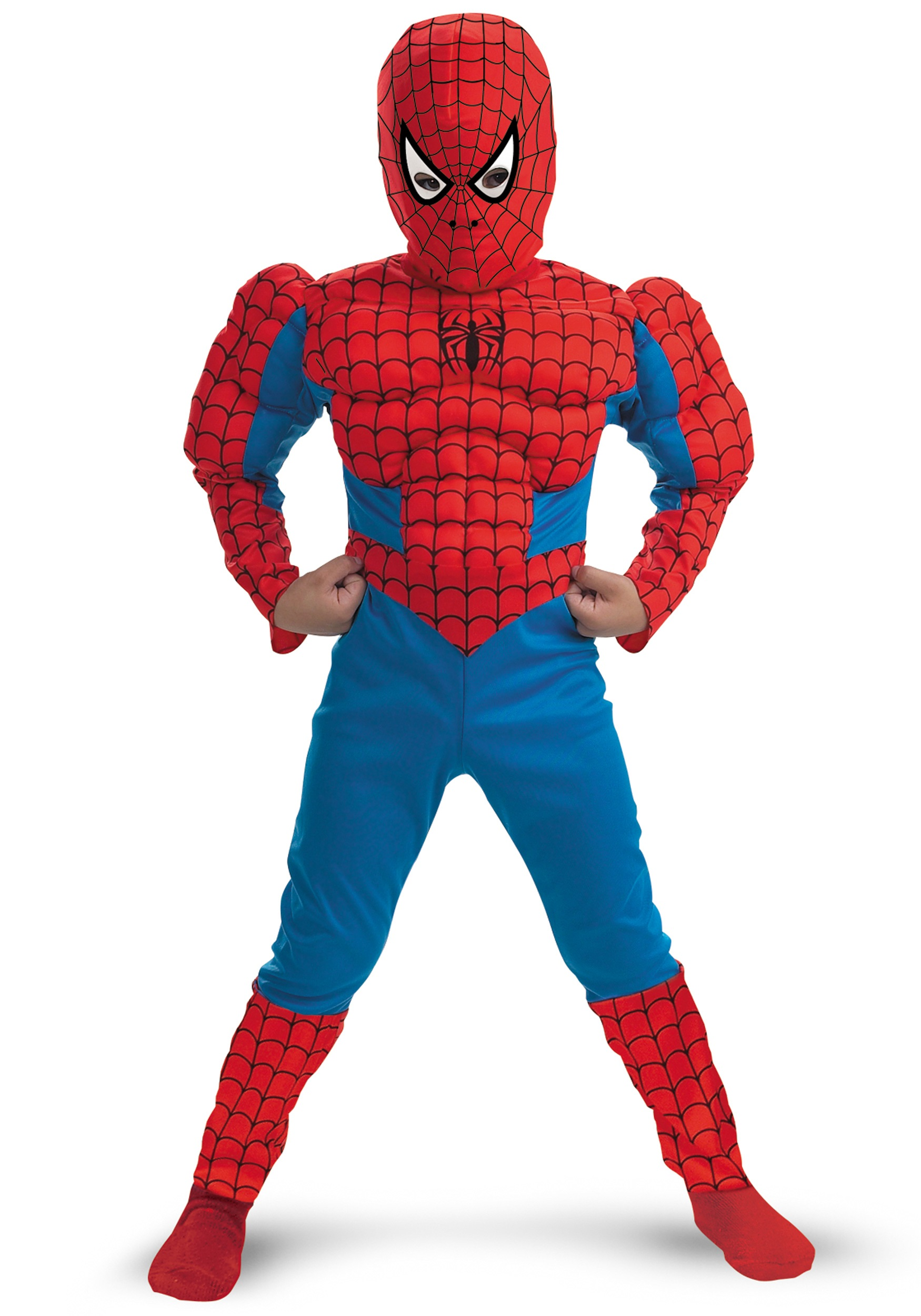 Kids Deluxe Muscle Spiderman Costume  sc 1 st  Halloween Costumes & Kids Deluxe Muscle Spiderman Costume - Halloween Costumes