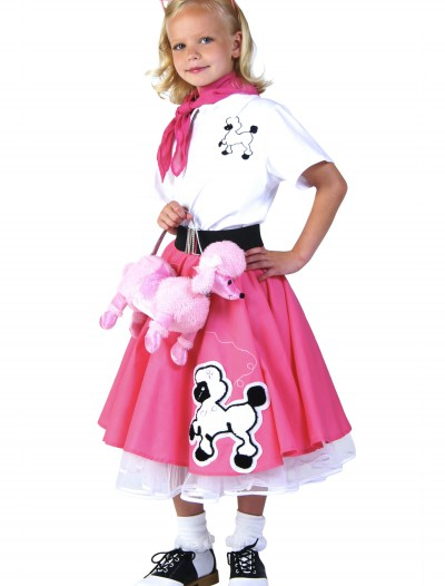 Kids Deluxe Pink Poodle Skirt Costume, halloween costume (Kids Deluxe Pink Poodle Skirt Costume)
