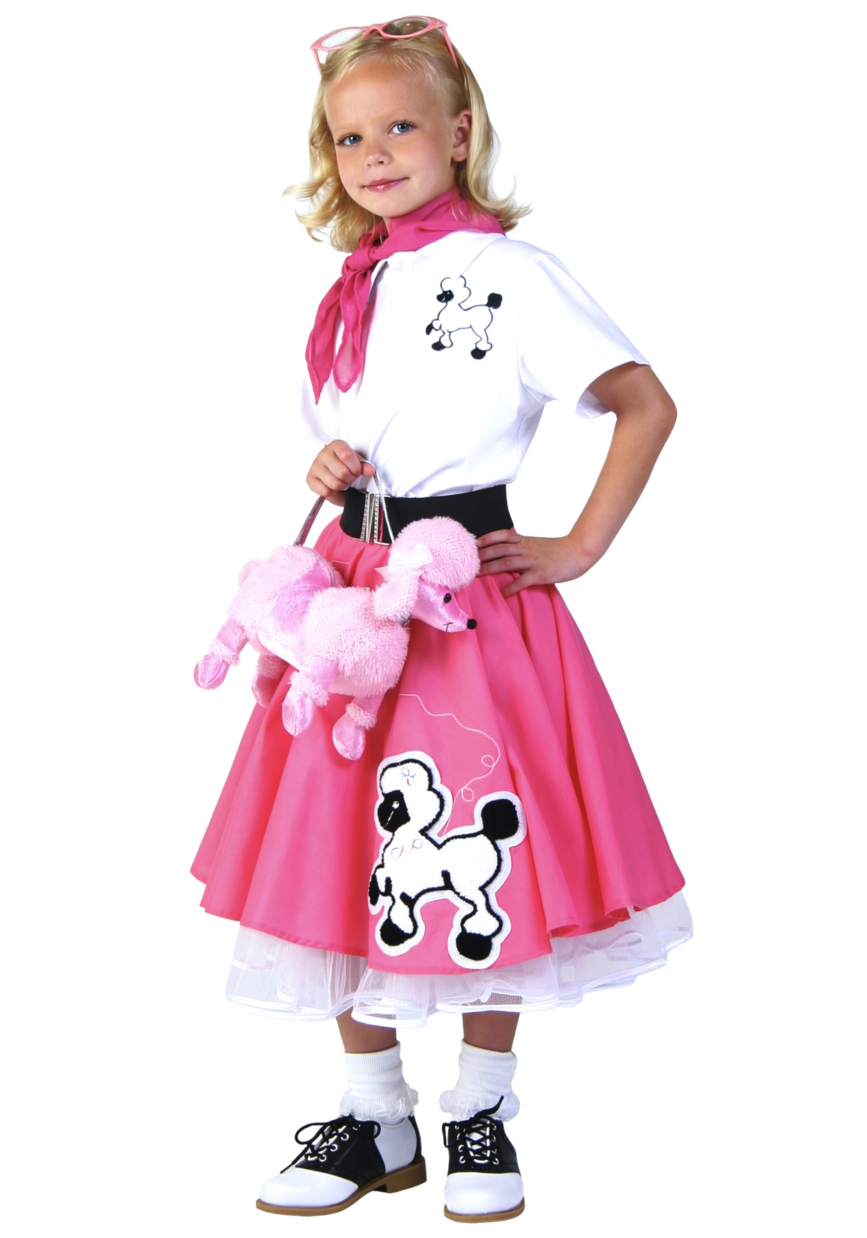 Kids Deluxe Pink Poodle Skirt Costume  sc 1 st  Halloween Costumes & Kids Deluxe Pink Poodle Skirt Costume - Halloween Costumes