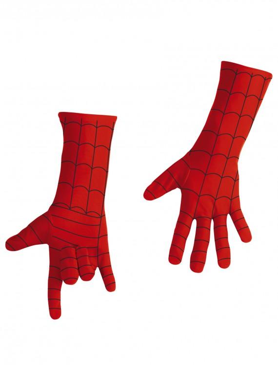 Kids Deluxe Spiderman Long Gloves, halloween costume (Kids Deluxe Spiderman Long Gloves)