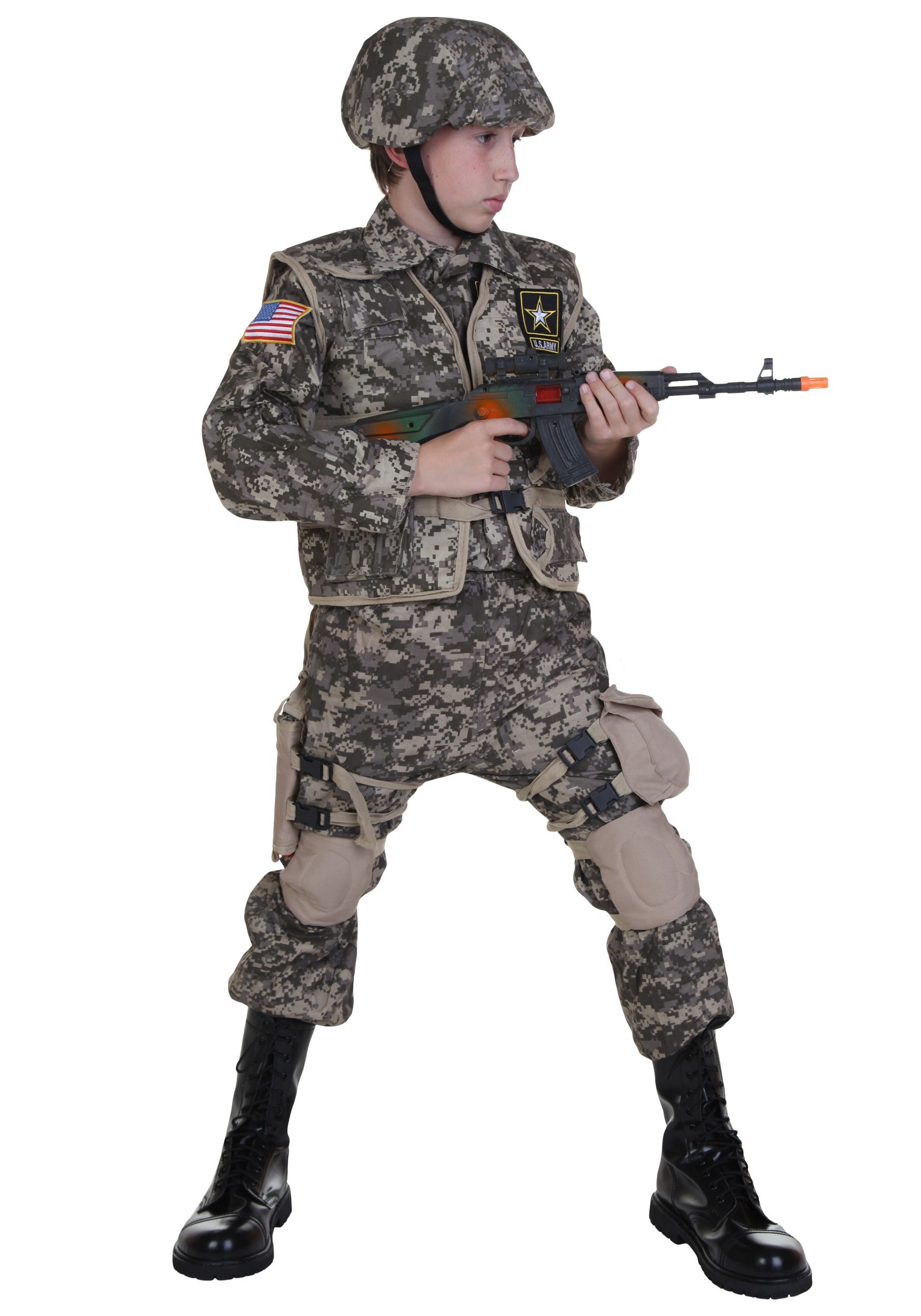 kids deluxe us army ranger costume
