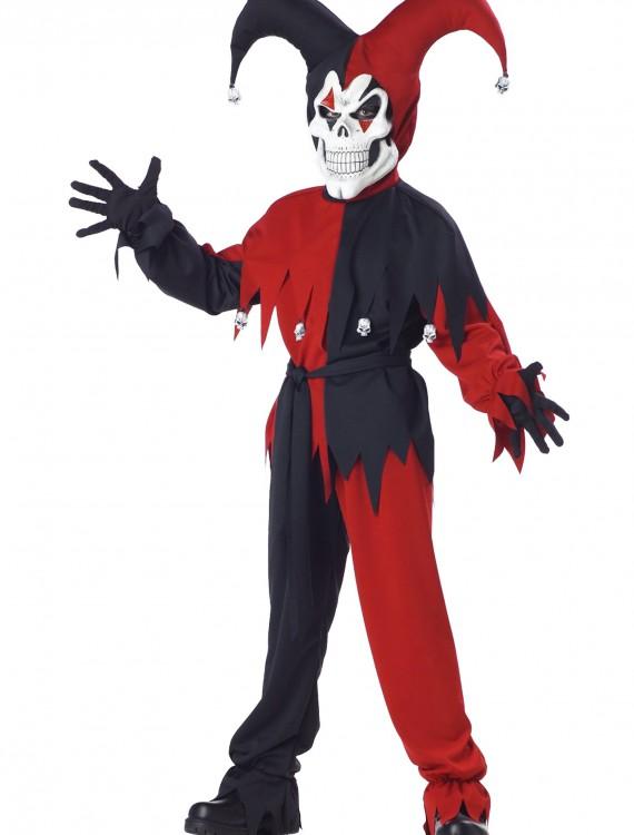 Kids Evil Jester Costume, halloween costume (Kids Evil Jester Costume)
